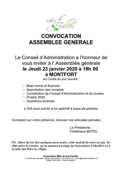 Convocation A.G Du 23 01 2019 1